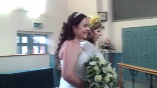 Davina and Graham - here comes the bride
