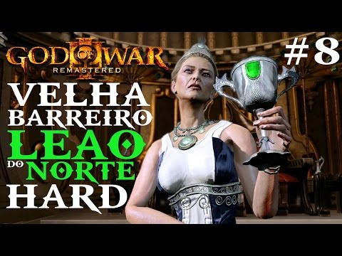God of War 3 HARD Parte#8. HERA Barreiro Leão do Norte. PS4 (PT-BR)