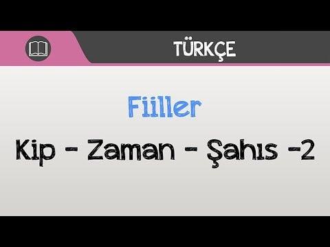 Fiiller - Kip, Zaman, Şahıs -2