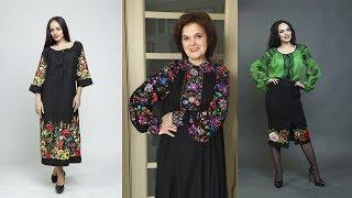 Яркая вышивка на черном фоне - обзор двух платьев и юбки