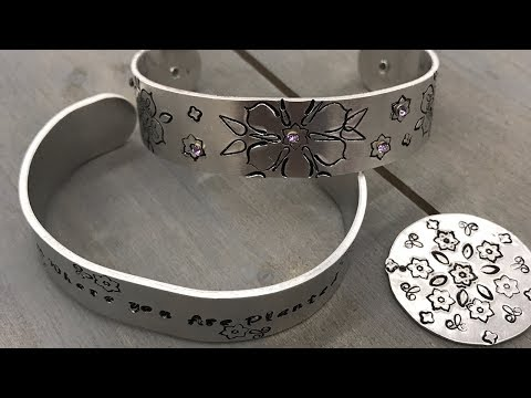 Crankin' Out Crafts - ep530 Stamped Bangle Using Mandala Stamps