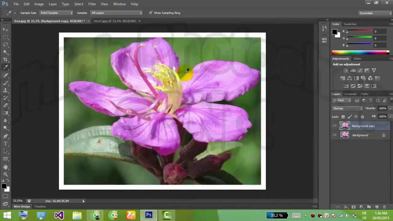 Tạo khung viền cho ảnh bằng Photoshop CS6 – Dùng Photoshop tạo khung ảnh ngoài