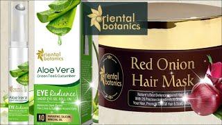 Oriental Botanics Red Onion Hair Mask Aloe Vera Green Tea Cucumber Under Eye Gel Roll On