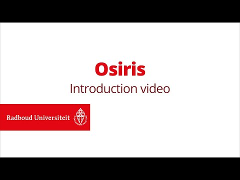 Introduction video | Osiris