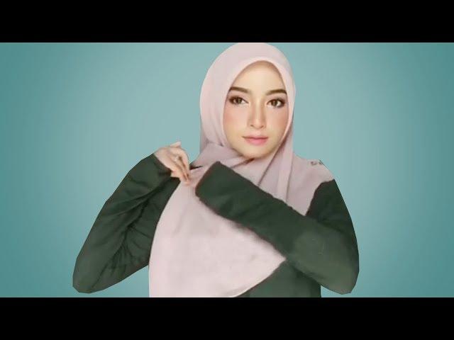 12 Tutorial Hijab Lebaran Paling Simple Kekinian Cara Pakai Hijab Segi Empat