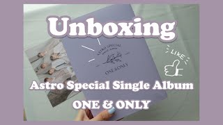 [UNBOXING] ASTRO 아스트로 Special Single Album : ONE&ONLY | Min …