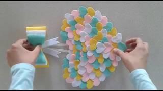 Keçeden Bebek Odası Kapı Süsü Yapımı! / DIY Baby Room Decoration