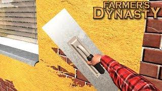 Tynkowanie ścian zewnętrznych (remont domu cz. 2) - Farmer's Dynasty  | #16