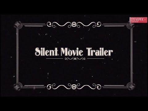 silent movie trailer after effects template youtube. Black Bedroom Furniture Sets. Home Design Ideas