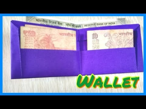 mini homemade paper pocket money wallet purse very easy at home crafts