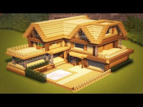 Как построить красивый деревянный дом в майнкрафте