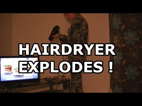 Hairdryer Goes Bang Explodes Girlfriend Prank Not Gone Wrong Lol