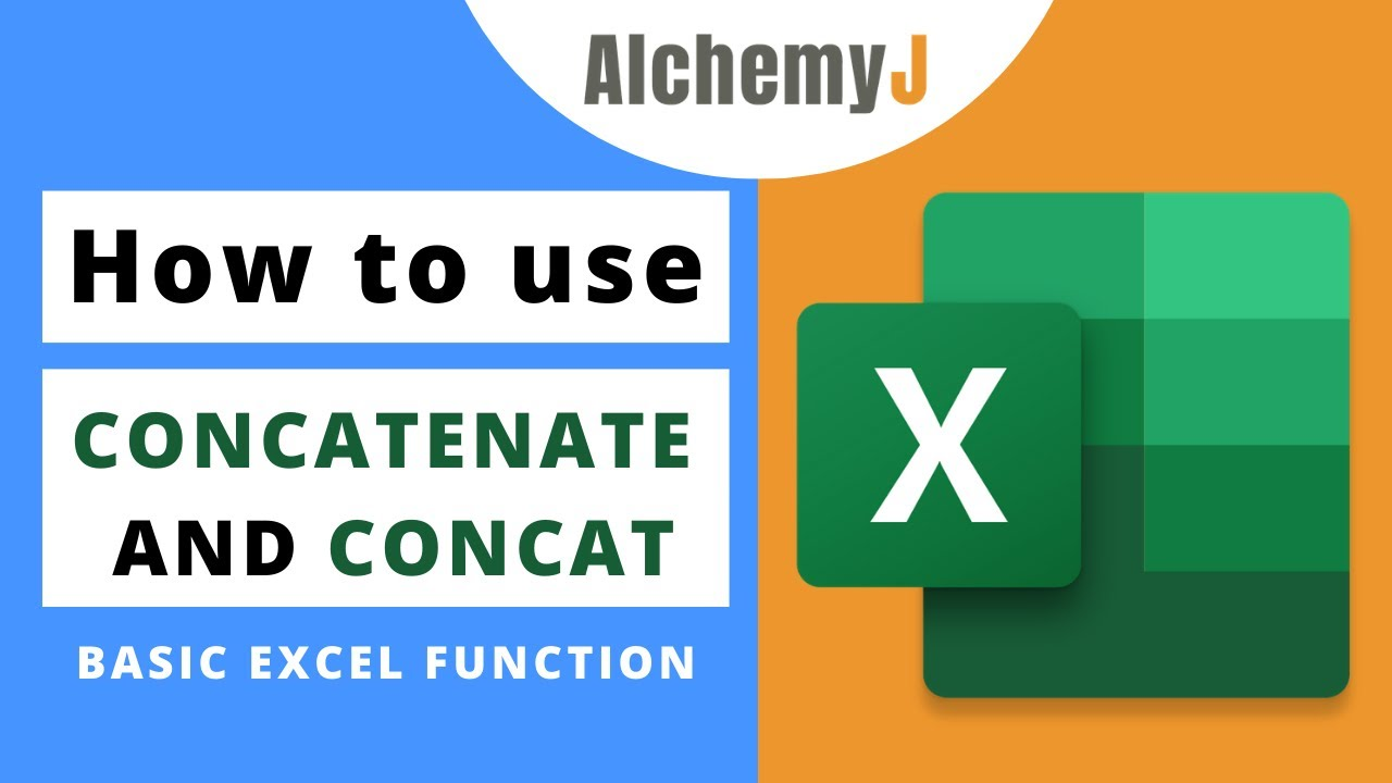 Basic Excel Function - How to use Concatenate and Concat Function in Excel