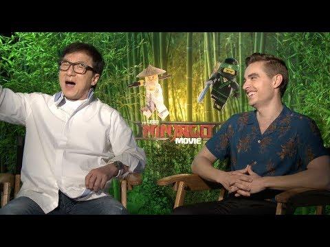 THE LEGO NINJAGO MOVIE interviews - Jackie Chan, Franco, Theroux, Munn, Nanjiani, Woods