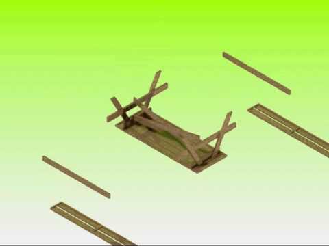 montaggio tavolo da giardino brico legno store youtube
