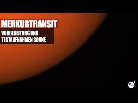 Merkurtransit - Vorbereitung und Testaufnahmen Sonne
