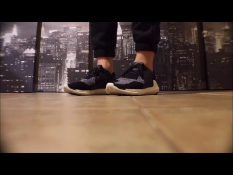 149267af56b18 Adidas Y-3 Boost QR in Black White Knit (ON FEET) - YouTube
