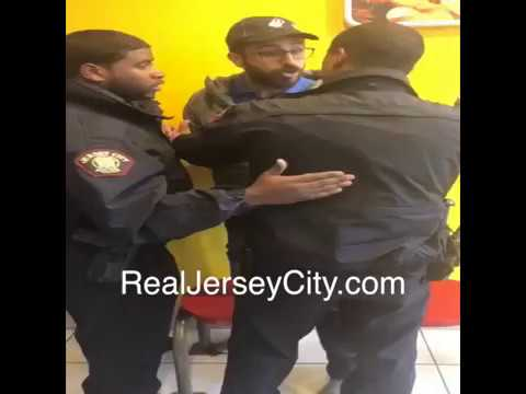 Jersey City police incident at Communipaw Dominos (March 27, 2018)
