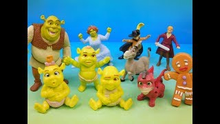 2007 SHREK THE THIRD SET OF 10 McDONALDS HAPPY MEAL KIDS TOYS VIDEO REVIEW