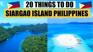 20 THINGS TO DO in SIARGAO ISLAND | SIARGAO Travel Guide | SIARGAO PHILIPPINES