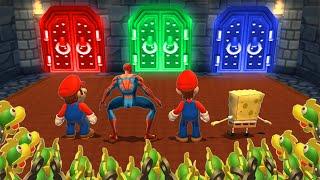 Mario Party 9 MiniGames - Luigi Vs Mario Vs SpongeBob Vs Spider Man (Master Cpu)