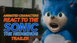 Animated Characters React To The Sonic the Hedgehog Trailer