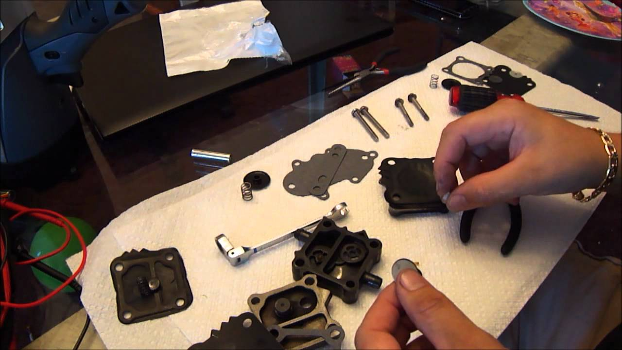 Outboard fuel pump rebuild  YouTube