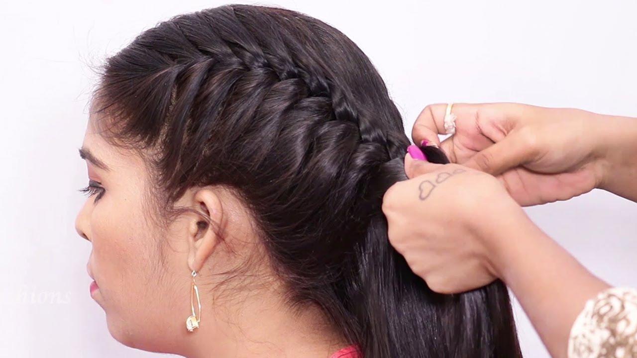 Easy Messy Braid Hairstyle / Beautiful Braid Hairstyle for Long to Medium Hair / Easy Hair Tutorial