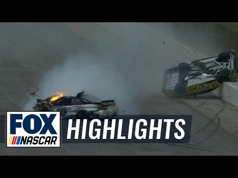 Matt Kenseth Gets Airborne in Late Wreck with Danica Patrick - Talladega - 2016 NASCAR Sprint Cup