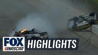 Matt Kenseth Gets Airborne in Late Wreck with Danica Patrick - Talladega - 2016 NASCAR Sprint Cup