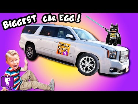 World's Biggest Family SUV CAR Egg! Surprise Toys HobbyKidsTV