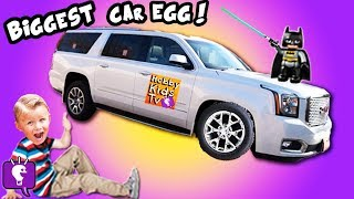 World's Biggest Family SUV CAR Egg! Surprise Toys HobbyKidsTV