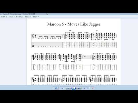 WeiKing 吉他教室 Maroon 5 - Moves Like Jagger (十九)