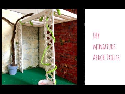 DIY Miniature Arbor trellis