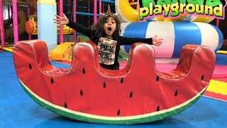 Indoor playground play area for Kids fun video
