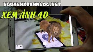 Hướng dẫn xem hình thực tế ảo 4D trên điện thoại - animal 4d