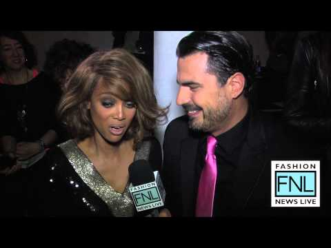 Tyra Banks Interview with Rocco Leo Gaglioti Mercedes-Benz Fashion Week Spring Summer 2013