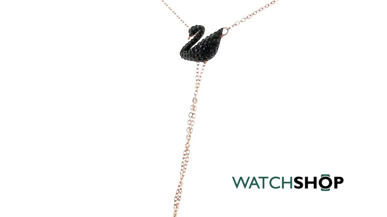 0336b88333a Swarovski Jewellery Jewellery Ladies' Rose Gold Plated Iconic Swan Necklace  (5351806)
