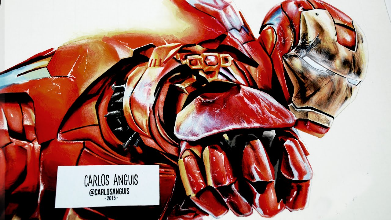 Drawing Iron Man Age Of Ultron Dibujando A Iron Man