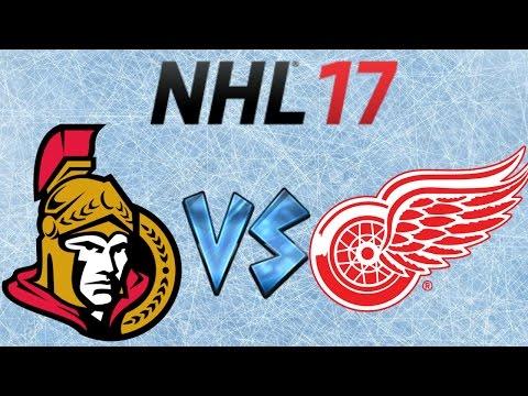 NHL 17 Ottawa Senators VS Detroit Red Wings (Full Game)
