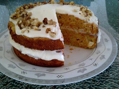 Carrot cake with cream cheese icing nutrition