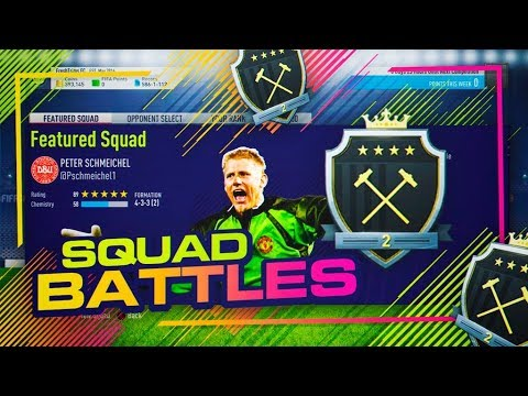 RECOMPENSA ELITE 2 SQUAD BATTLES + LA PLANTILLA DE SCHMEICHEL!! | FIFA 18