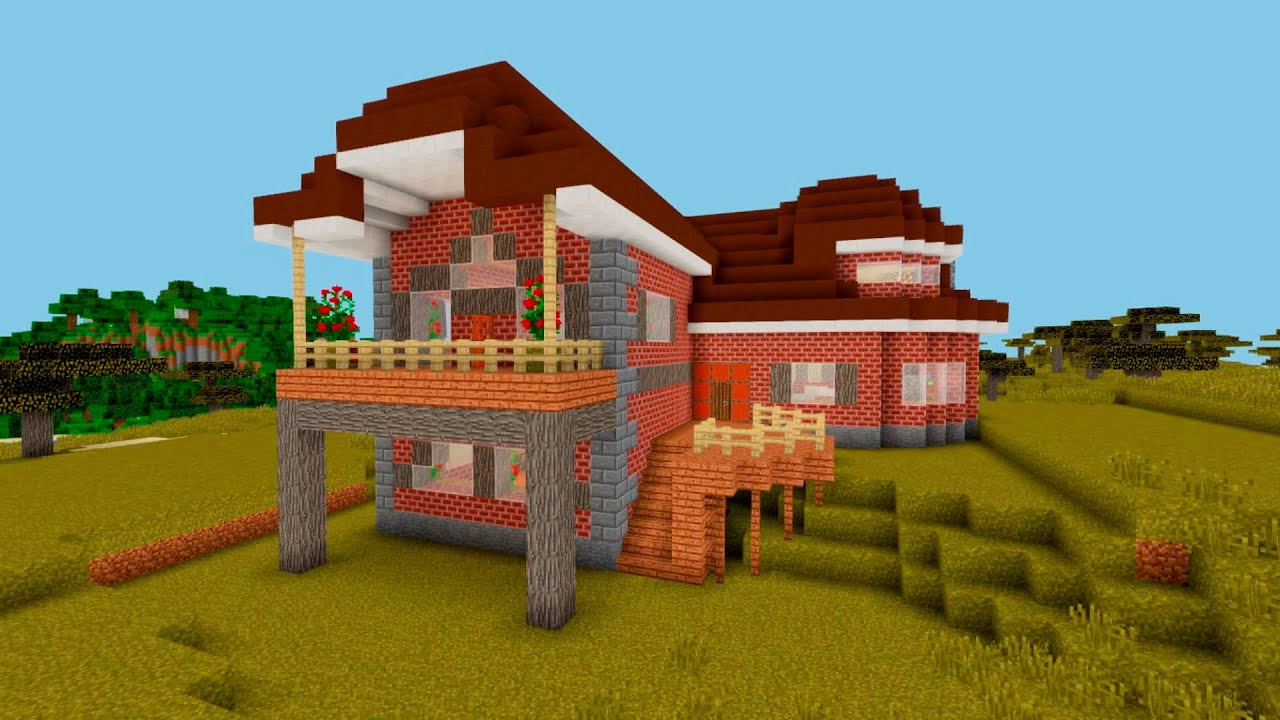 Minecraft  How To Build A Suburban Brick House  Brick Design Ideas  Project13