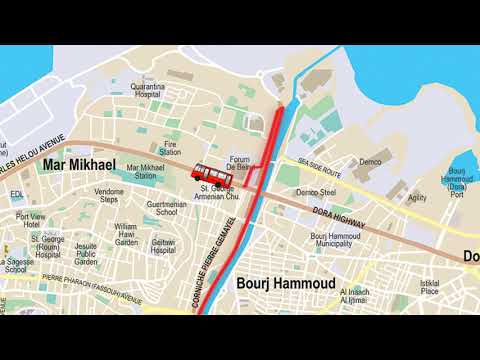 Directions Map English | BLOM BANK BEIRUT MARATHON 2018