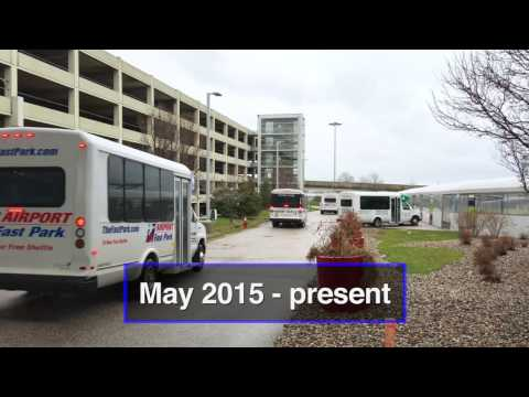 THEN to NOW: Cleveland Hopkins International Airport drop off locations for parking shuttles