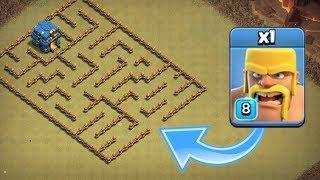 Baixar ONE TROOP vs LEVEL 1 MAZE BASE!! - Clash Of Clans