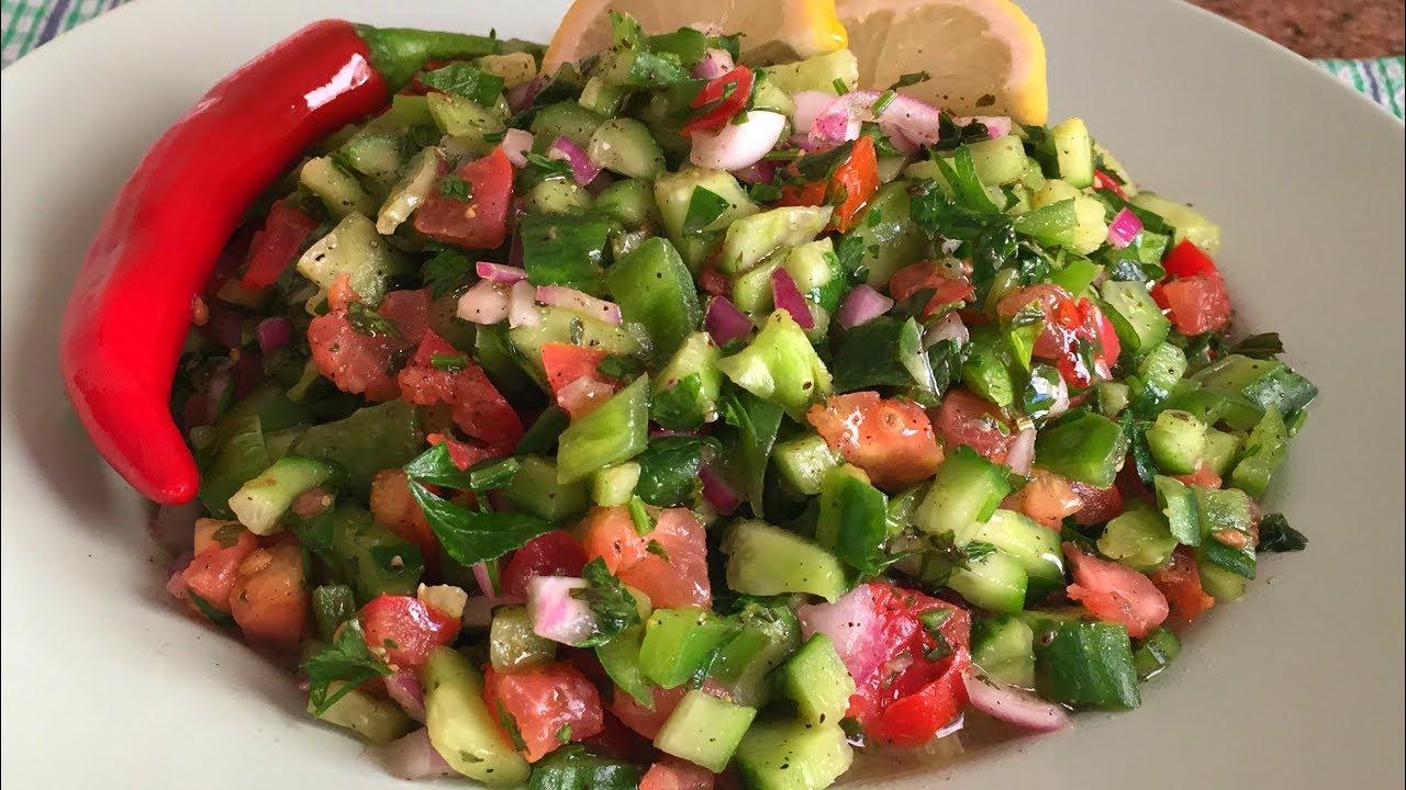 سلطة صحية شهية ولذيذة سلطة الخيار والطماطم بمكونات بسيطة سريعة التحضير Youtube