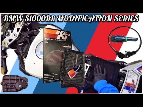 BMW S1000RR MODIFICATION SERIES - K&N FILTER - EXHAUST SERVO - IAT FAFAGE