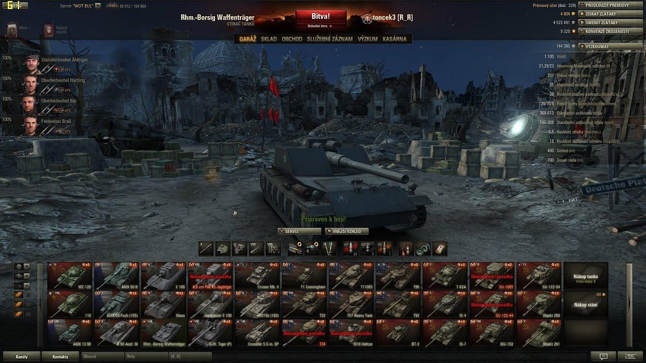 Download World of Tanks CZ - Rhm.-Borsig Waffenträger