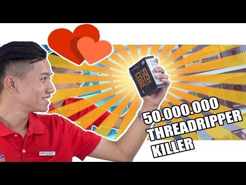 Trên tay CPU 50.000.000 Đồng = 2 con IPHONE X - i9-7980XE Review - HANOICOMPUTER